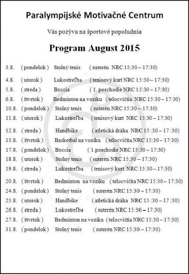 Program August 2015